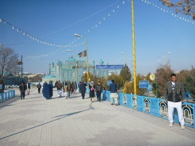 On the walk into the Hazrat Ali Shrine