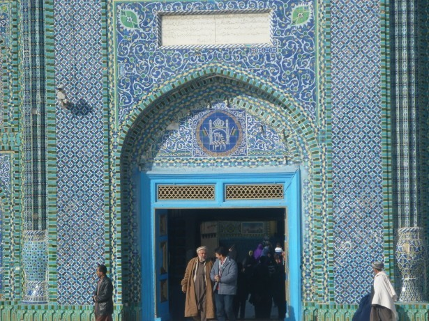 The front entrance gate to the Hazrat Ali Shrine