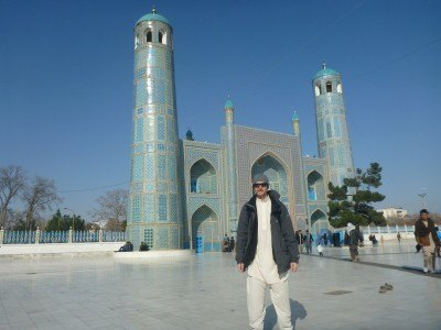 Touring the city of Masar e Sharif - Hazrat Ali's tomb.