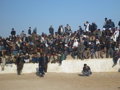 The stands of Maydani Buzkashi Stadium