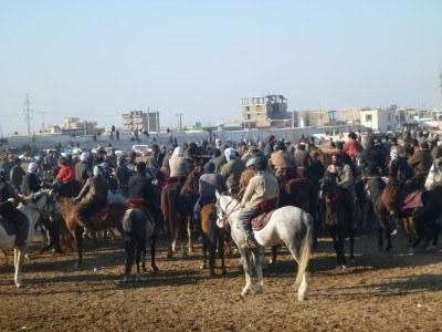 The thick of the action at Buzkashi in Afghanistan