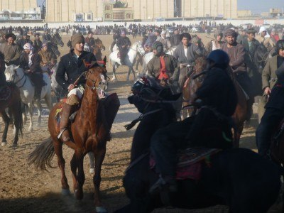 Up close and personal to Buzkashi