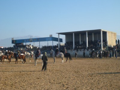 The Grandstand in Masar e Sharif