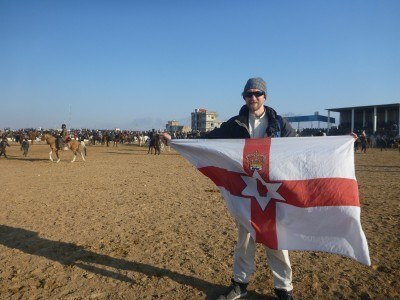 Flying my Northern Ireland flag at Buzkashi