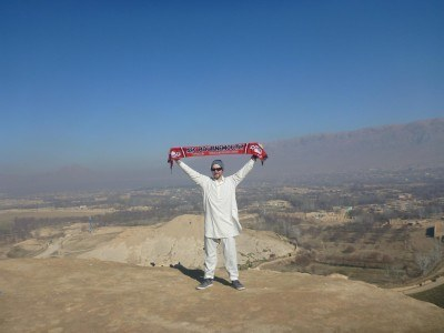 Admiring the view: AFC Bournemouth scarf