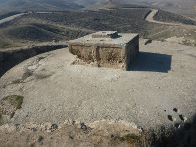 The stupa at Takht e Rostam