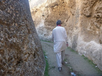 Walking around the Stupa - the spot where Noor found me a bullet