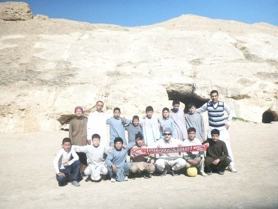 Afghan kids and my AFC Bournemouth scarf