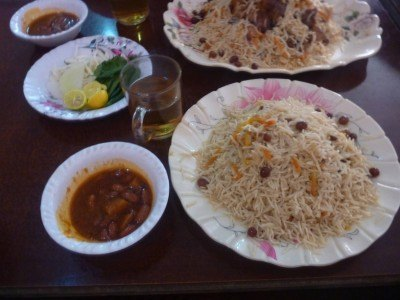 Friday's Featured Food: Pilov in Horam Restaurant Haibak, Samangan, Afghanistan