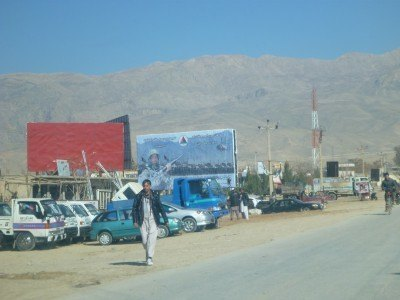 The town of Haibak in Afghanistan