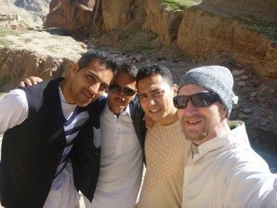 My friends Reza, Sakhi, Noor and I at Tashkurgan