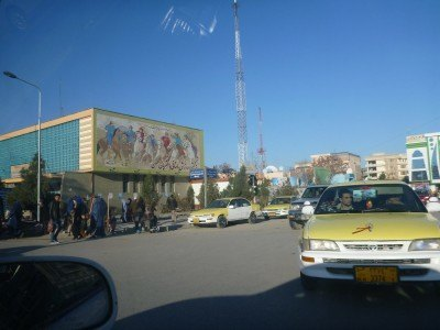 Buzkashi Mural in Masar e Sharif