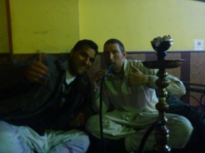 Reza and I in the Shisha House
