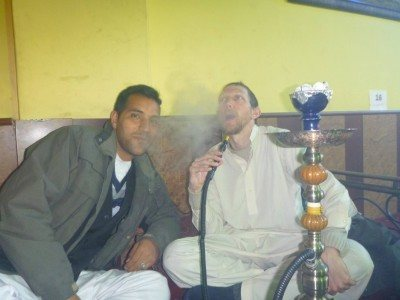 Reza and I in Abshar Shisha Lounge