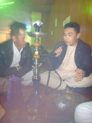 Sakhi and Noor in the Shisha House