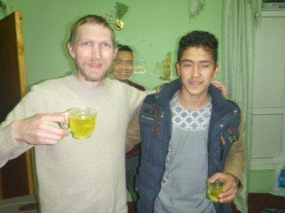 Saffron tea with Mahdi