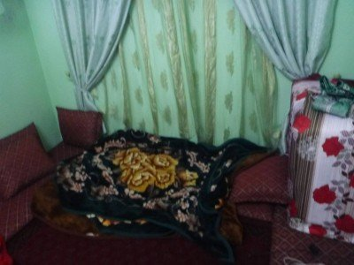 My bed in the homestay