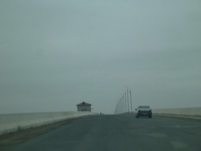 The road to Karakalpakstan's capital city, Nukus
