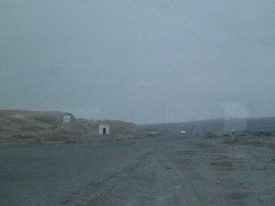 The lonely obscure road to Nukus