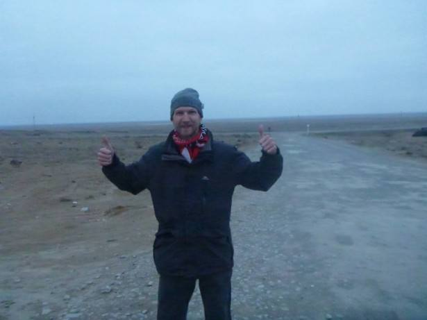 Arrival in the desert wilderness of the Republic of Karakalpakstan