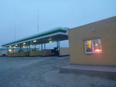 First stop in Karakalpakstan - a lonely petrol station
