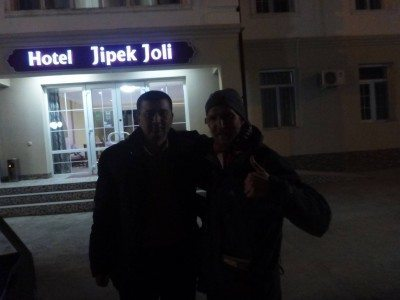 Arrival at the Hotel Jipek Joli with whiskey boy