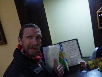 Arrival at the Hotel Jipek Joli in Nukus