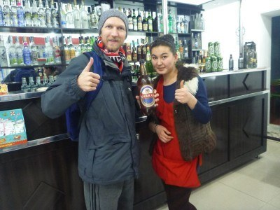 In an off licence in Nukus, Karakalpakstan