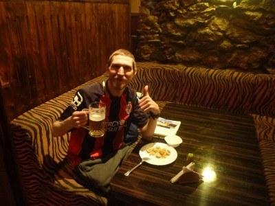 On the rip in Neo Bar in Nukus, Karakalpakstan