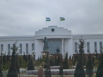 Parliament Building of Karakalpakstan's capital city - Nukus