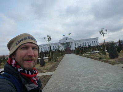 Outside the Parliament in Nukus, Republic of Karakalpakstan