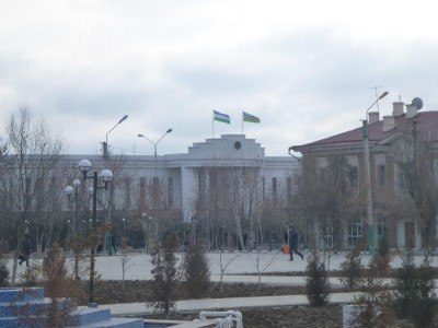 Parliament buildings in Nukus, Republic of Karakalpakstan