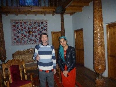 Barno and I at Hotel Xiva Atabek