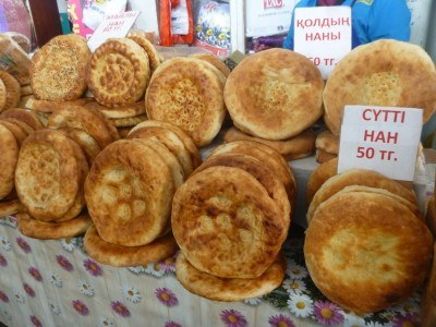 Local bread in the Bazaar in Shymkent