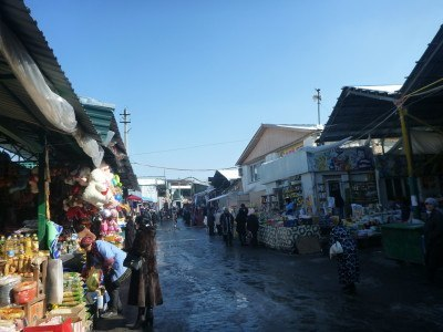 Bazaar in Shymkent, Kazakhstan