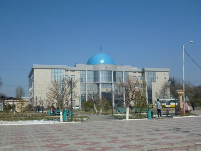 Wedding Palace in behind Kaldayakov Park in Shymkent