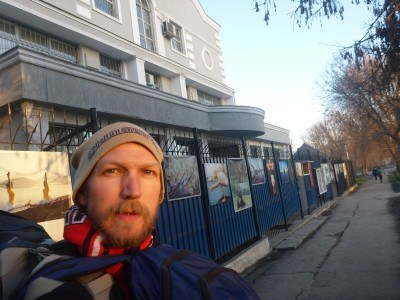 Yet another dander past the Indian Embassy in Bishkek, Kyrgyzstan