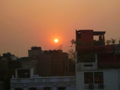 Sunset in New Delhi, India