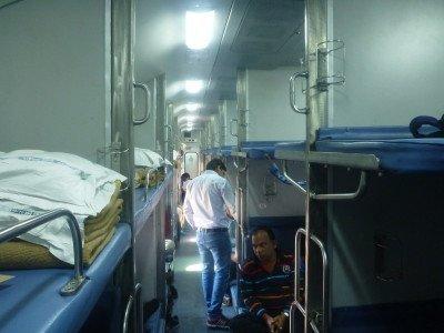 Onboard the night train