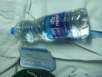 I get given a bottle of water