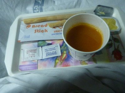 After what I assumed to be dinner, soup arrives.