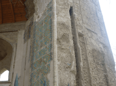 Remaining mosaics of Khwaja Parsa Gate Balkh