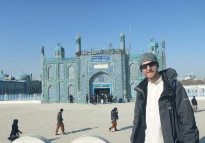 Touring the Blue Mosque Masar e Sharif
