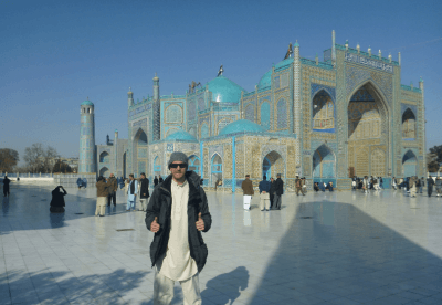 Touring the Blue Mosque, Hazrat Ali Shrine, Masar e Sharif Afghanistan