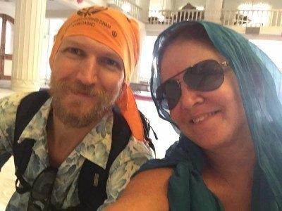 Katia and I backpack our way through Ahmedabad