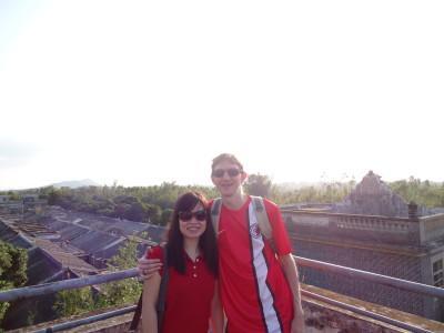 Panny and I touring Majianglong Village in China