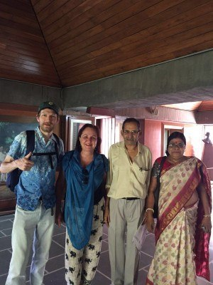 Katia and I meet locals in Ahmedabad