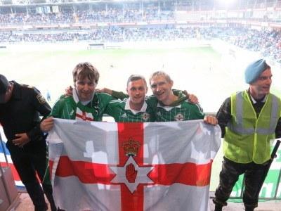 The Northern Irish boys in Azerbaijan. Nial, Davy and I.