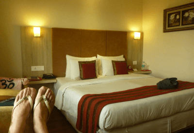 Relaxing at Nidhivan Sarovar Portico Hotel in Vrindavan