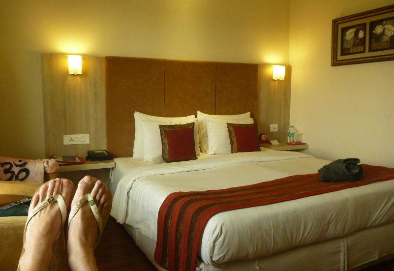 Relaxing at Nidhivan Sarovar Portico Hotel in Vrindavan
